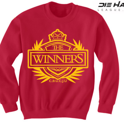 San Francisco 49ers Sweater Winners Crest Red NFL Crewneck