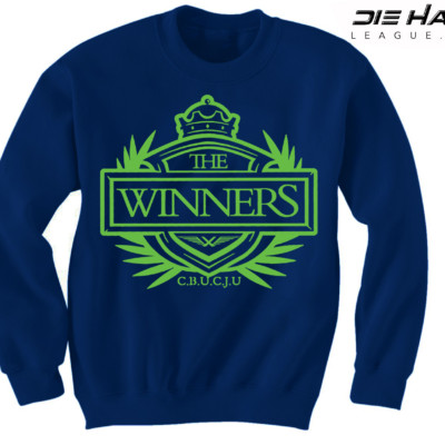 Seattle Seahawks Sweatshirt - Winners Crest Navy Crewneck