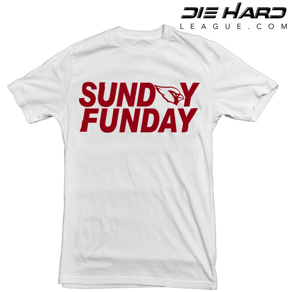 Arizona Cardinals T Shirt - Sunday Funday White Tee cc779c312