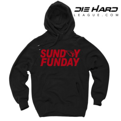 Arizona Cardinals Sweater Sunday Funday Black Hoodie