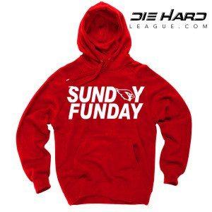 Arizona Cardinals Sweater Sunday Funday Red Hoodie