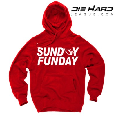 Arizona Cardinals Sweater Sunday Funday Red Hoodie