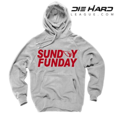 Arizona Cardinals Sweater Sunday Funday White Hoodie