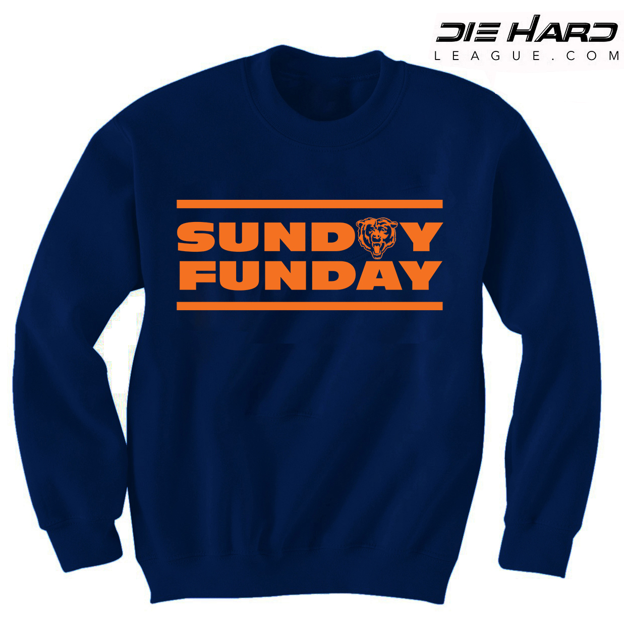 Chicago Bears Store - Sunday Funday Navy Sweatshirt  Best Deal  74e756542