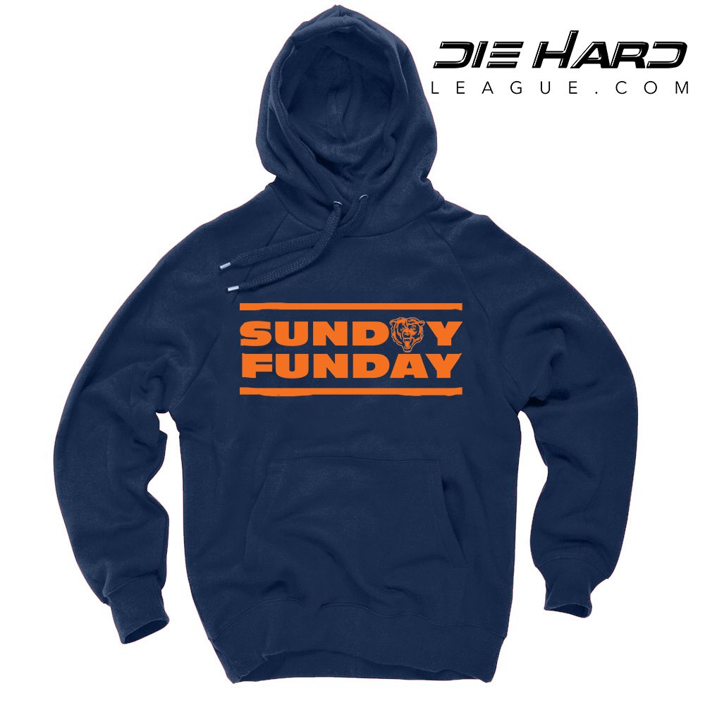 Bears Sweater Chicago - Sunday Funday Navy Bears Hoodie Best ... c7cee5a89