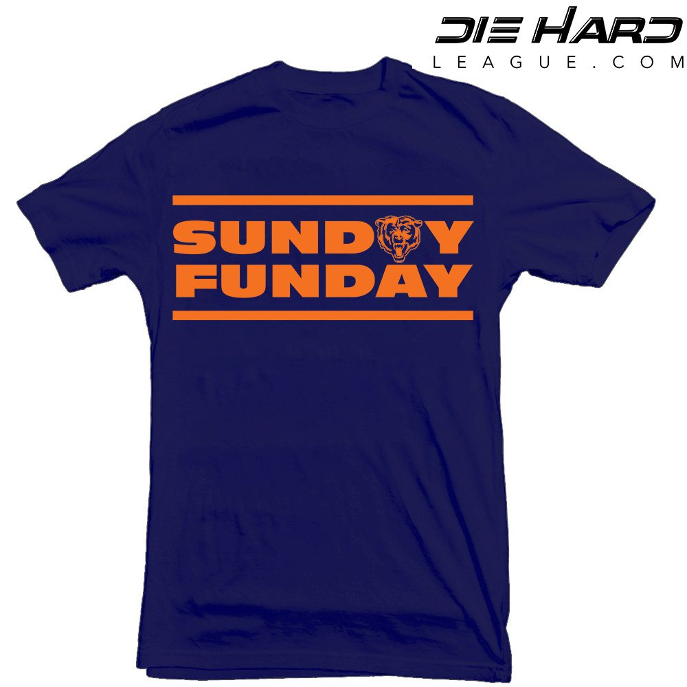 a91c65f3 Funny Chicago Bears Shirts - Sunday Funday Navy Tee [Best Value]