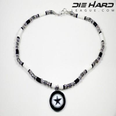 Dallas Cowboys Puka Shell Beaded Necklace