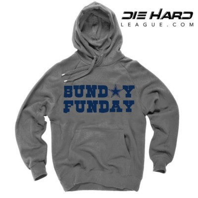 Dallas Cowboys Hoodies Cheap - Sunday Funday Gray Hoodie