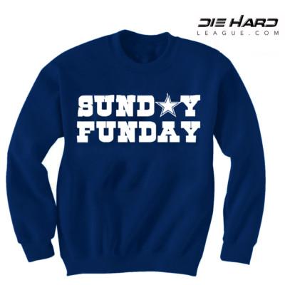 Dallas Cowboys Sweatshirt - Sunday Funday Navy Sweatshirt