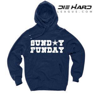 Dallas Cowboys T Shirt Sunday Funday Navy Hoodie