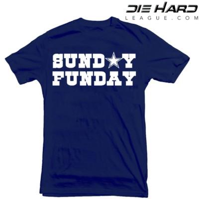 Dallas Cowboys Shirt - Dallas Cowboys T Shirt Sunday Funday Navy Tee