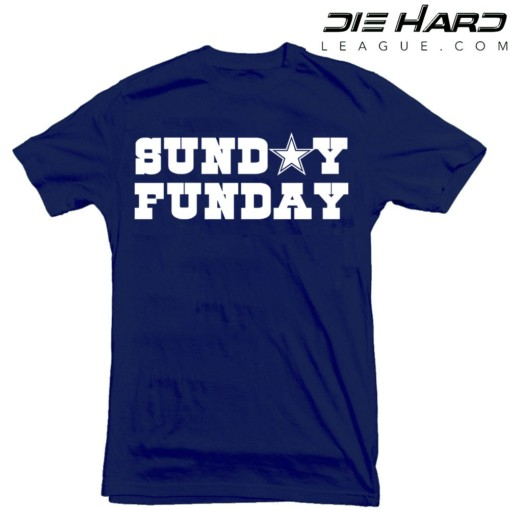 hot sale online af8b1 197fd Dallas Cowboys Shirt - Dallas Cowboys T Shirt Sunday Funday Navy Tee