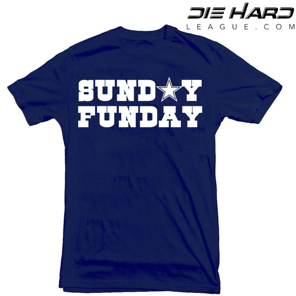 Dallas Cowboys Shirt - Dallas Cowboys T Shirt Sunday Funday Navy ... 04e08181c