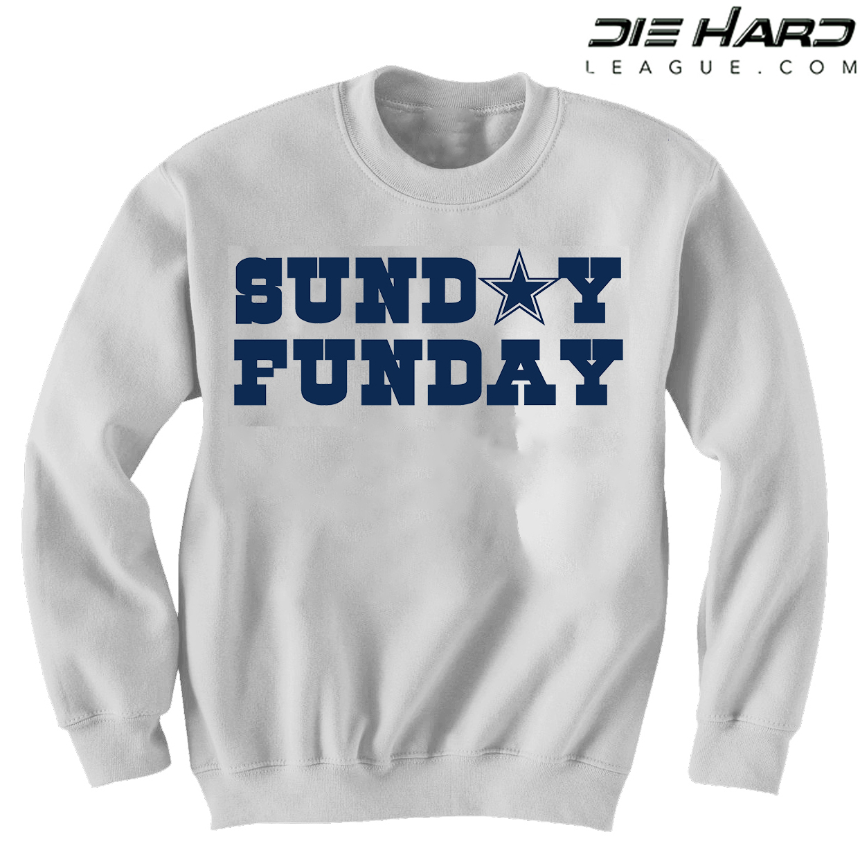 reputable site 8800d d3079 Dallas Cowboys Sweater - Sunday Funday White Sweatshirt