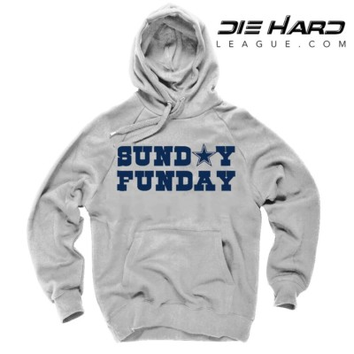 Cowboys Hoodies - Dallas Cowboys Sunday Funday White Hoodie