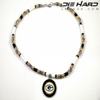 Green Bay Packers NFC North Puka Shell Beaded Necklace