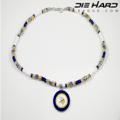Minnesota Vikings Puka Shell Beaded Necklace