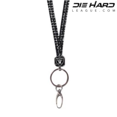 Oakland Raiders Black Bling AFC West Lanyard