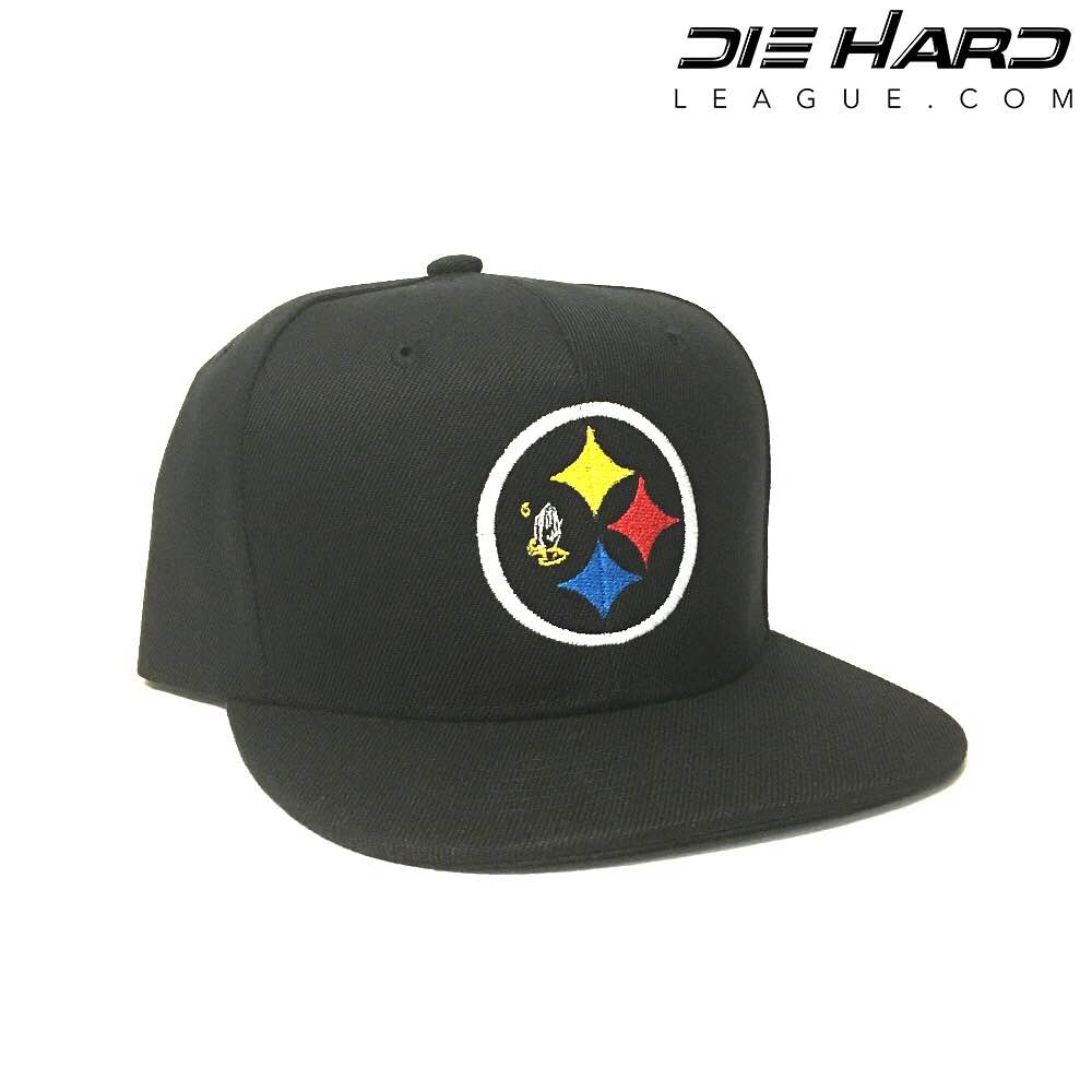 57e8ec478 Pittsburgh Steelers Hats- Steelers DRAKE 6 GOD Snapback Black Hat