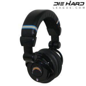 San Diego Chargers Pro DJ Headphones Gear