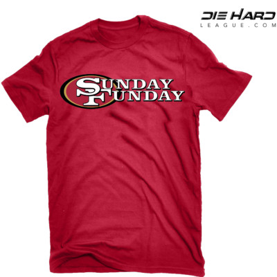 49ers Shirts Cheap - San Francisco 49ers Sunday Funday Red Tee