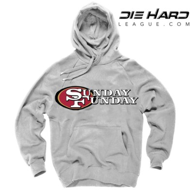 San Francisco 49ers Hoodies - Sunday Funday White Sweater