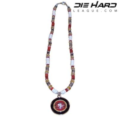 San Francisco 49ers Puka Shell Beaded Necklace
