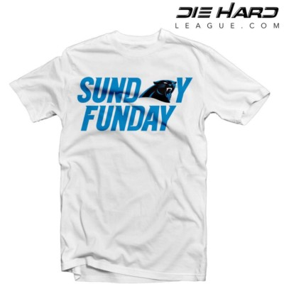 Carolina Panthers T Shirt - Sunday Funday White T Shirt