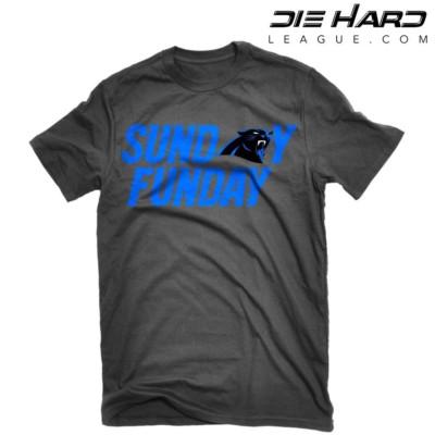 Carolina Panthers T Shirts - Sunday Funday Black T Shirt