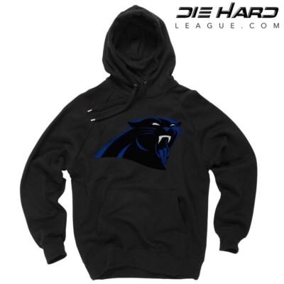 Carolina Panthers Hoodies - Jordan Tongue Black Hoodie