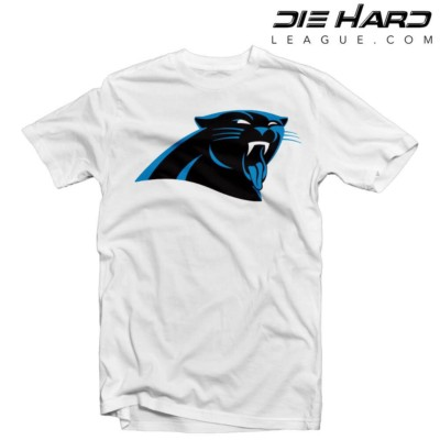Carolina Panthers Shirt - Jordan Tongue White Tee