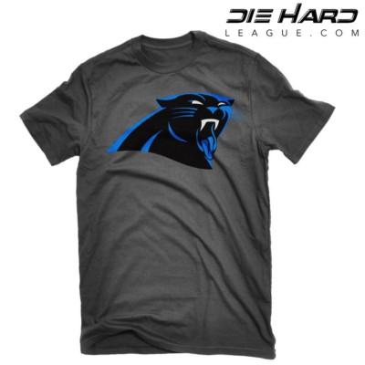 Carolina Panthers Shirts - Jordan Tongue Black T Shirt