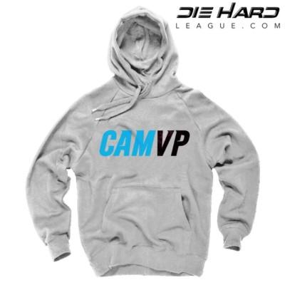 Cam Newton Sweatshirt - Carolina Panthers Cam Newton MVP White Hoodie