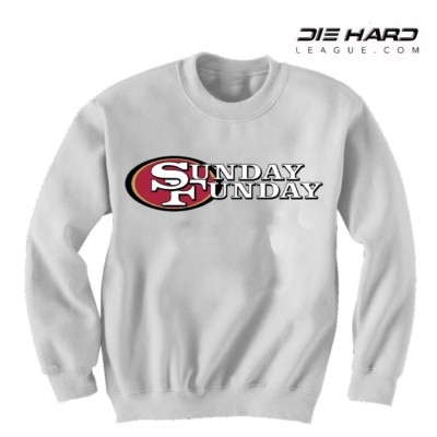 Mens 49ers Sweatshirt - San Francisco 49ers Sunday Funday Sweater