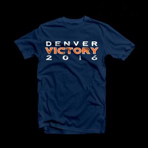 Denver Broncos T Shirt Super Bowl Victory Navy Tee