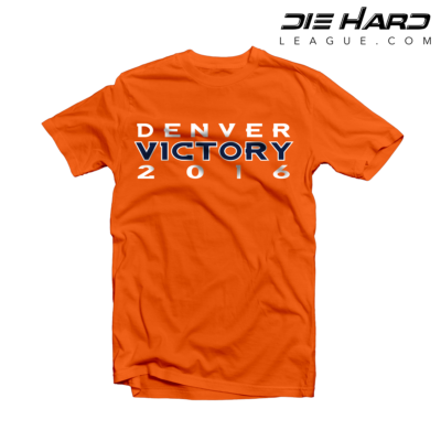 Denver Broncos Shirt - Super Bowl Victory Orange Tee