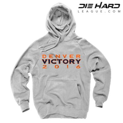 Denver Broncos Hoodies Cheap - Super Bowl Victory White Hoodie