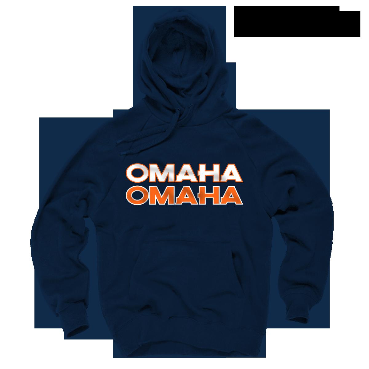 info for 7680e d8df7 Peyton Manning Hoodie -Denver Broncos OMAHA Navy Hoodie