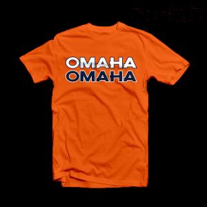Denver Broncos T Shirt Peyton Manning OMAHA Orange Tee