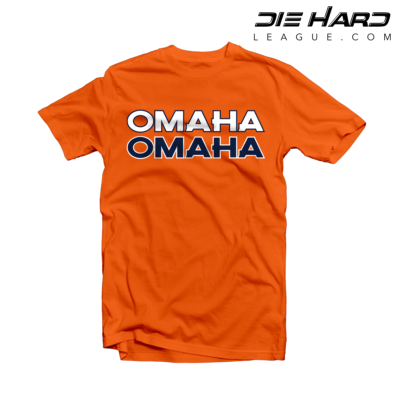 Peyton Manning Shirt - Denver Broncos OMAHA Orange Tee