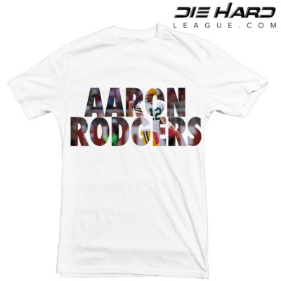 Aaron Rodgers White Tee - Green Bay Packers T Shirt
