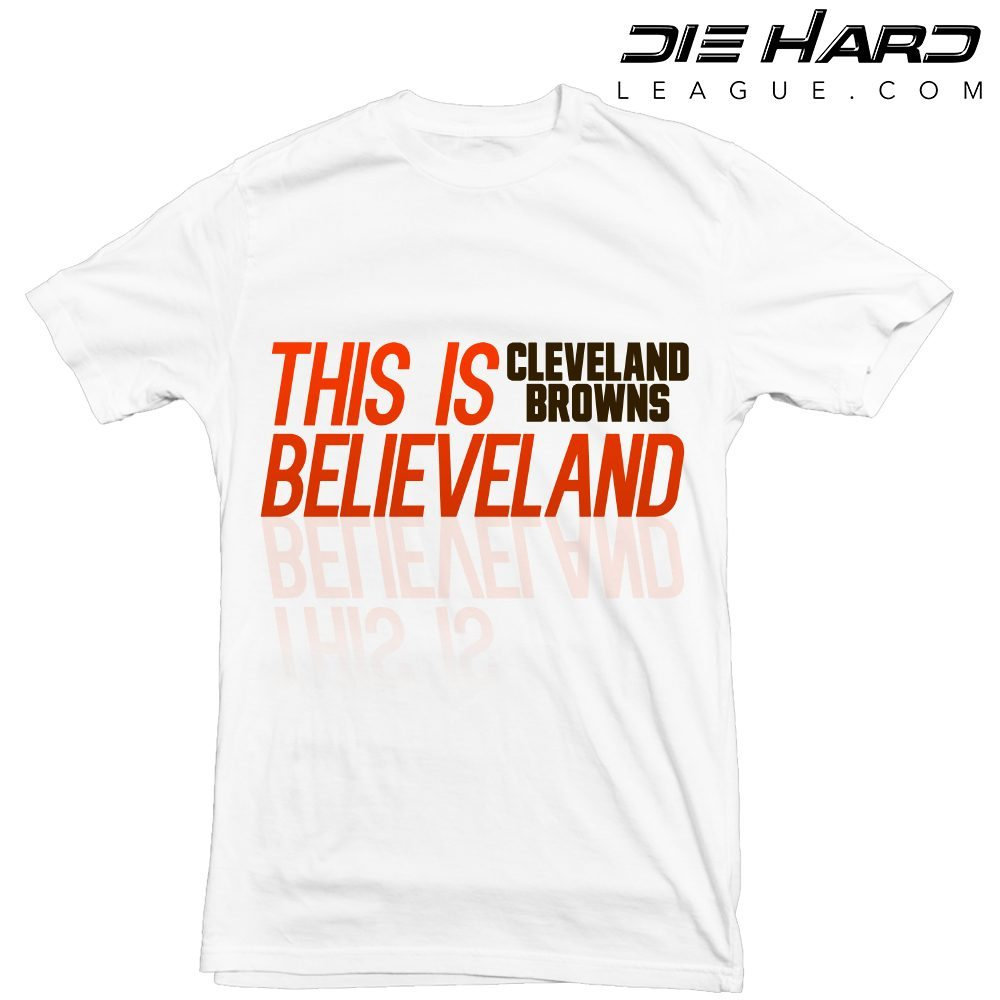 Cleveland Browns Believeland White T Shirt