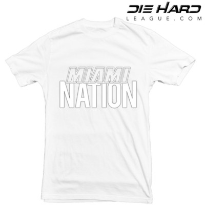 Miami Heat T Shirt Miami Nation White Tee