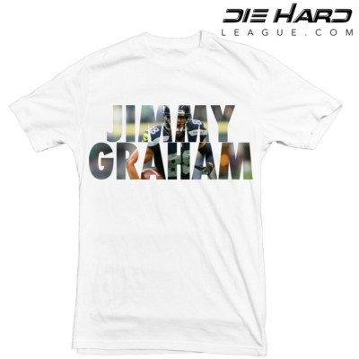 Jimmy Graham - Seattle Seahawks Jimmy Graham White Tee