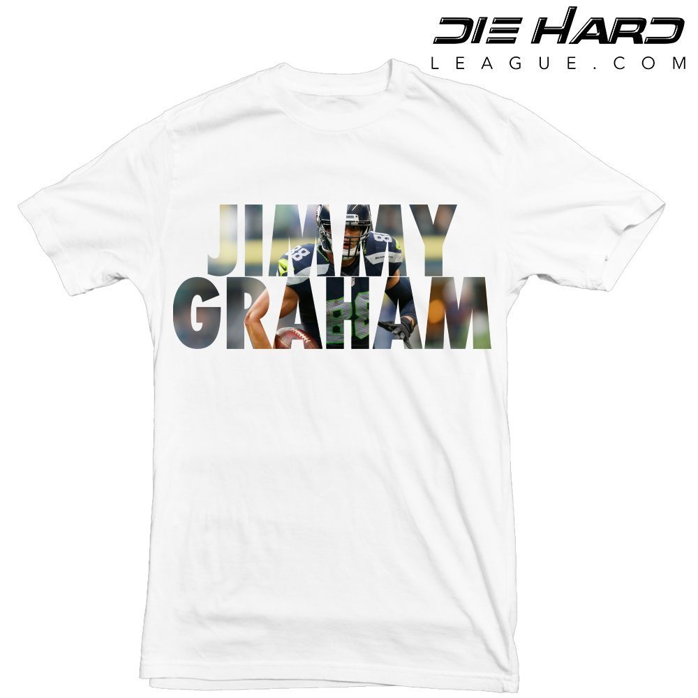 Jimmy Graham - Seattle Seahawks Jimmy Graham White Tee bd85b839a