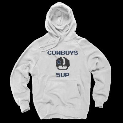Dallas Cowboys Hoodies - Mario Bros 5UP White Hoodie