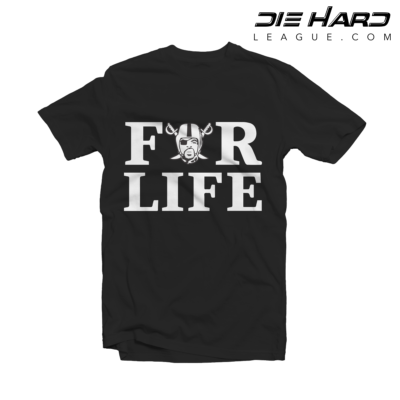 Raiders for Life - Oakland Raiders Shirt Black Tee