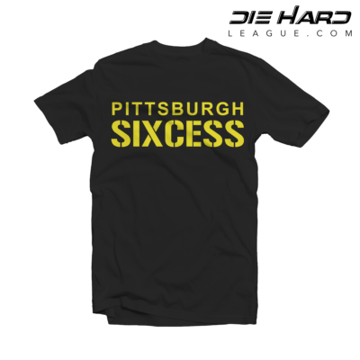Pittsburgh Steelers T Shirt SIXCESS Black Tee