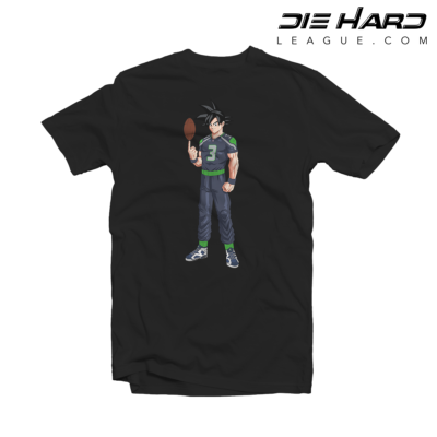 Seahawks T Shirt - Russell Wilson Goku Black Tee