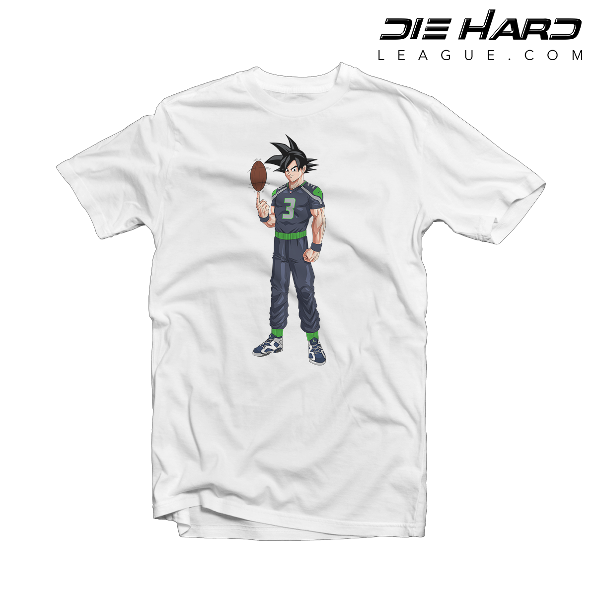 Seattle Seahawks T Shirts - Russell Wilson Goku White Tee   Best ... f910f1e0b